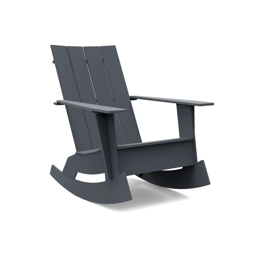 Adirondack Rocking Chair Flat Charcoal Grey In 2020 Adirondack