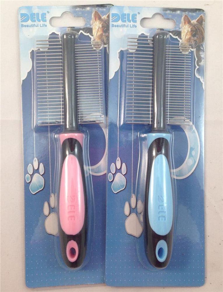 Comb Rake Brush Tool Grooming Hair Cat Pet Dog Puppy Kitten Shedding double side
