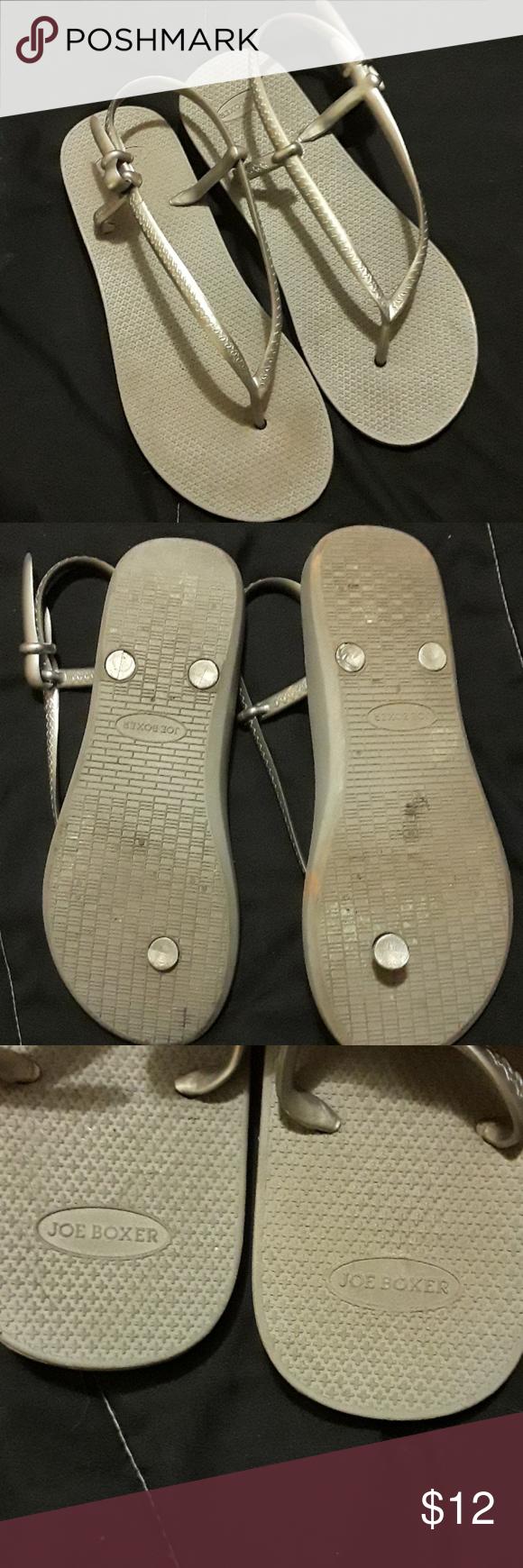 3c5d84a4194e74 Joe Boxer sandals Silver sandals
