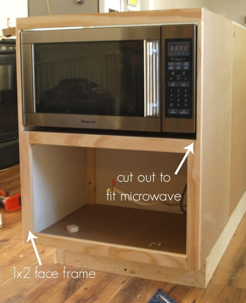 Best 25 microwave cabinet ideas on pinterest small for Built in microwave cabinet size