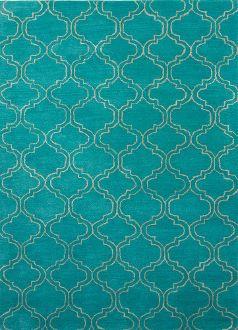 Lisbon Quatrefoil Turquoise Rug | Quatrefoil and Turquoise
