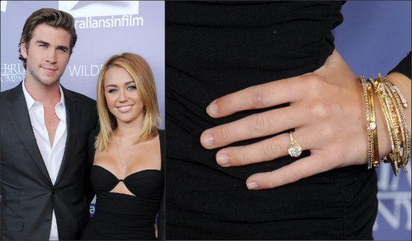 Miley Cyrusu0027 Ring From Liam Hemsworth