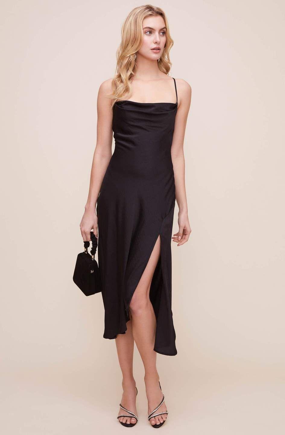 Gaia Midi Dress Solid Astr The Label Midi Dress Black Midi Dress Dresses [ 1441 x 945 Pixel ]