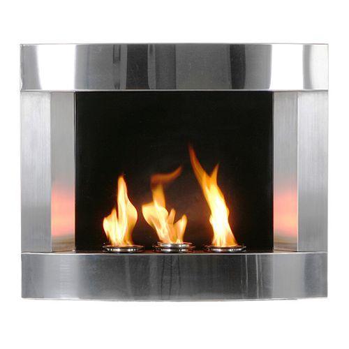 Stainless Steel Wall Mount Gel Fireplace 409 99 Wall Mount