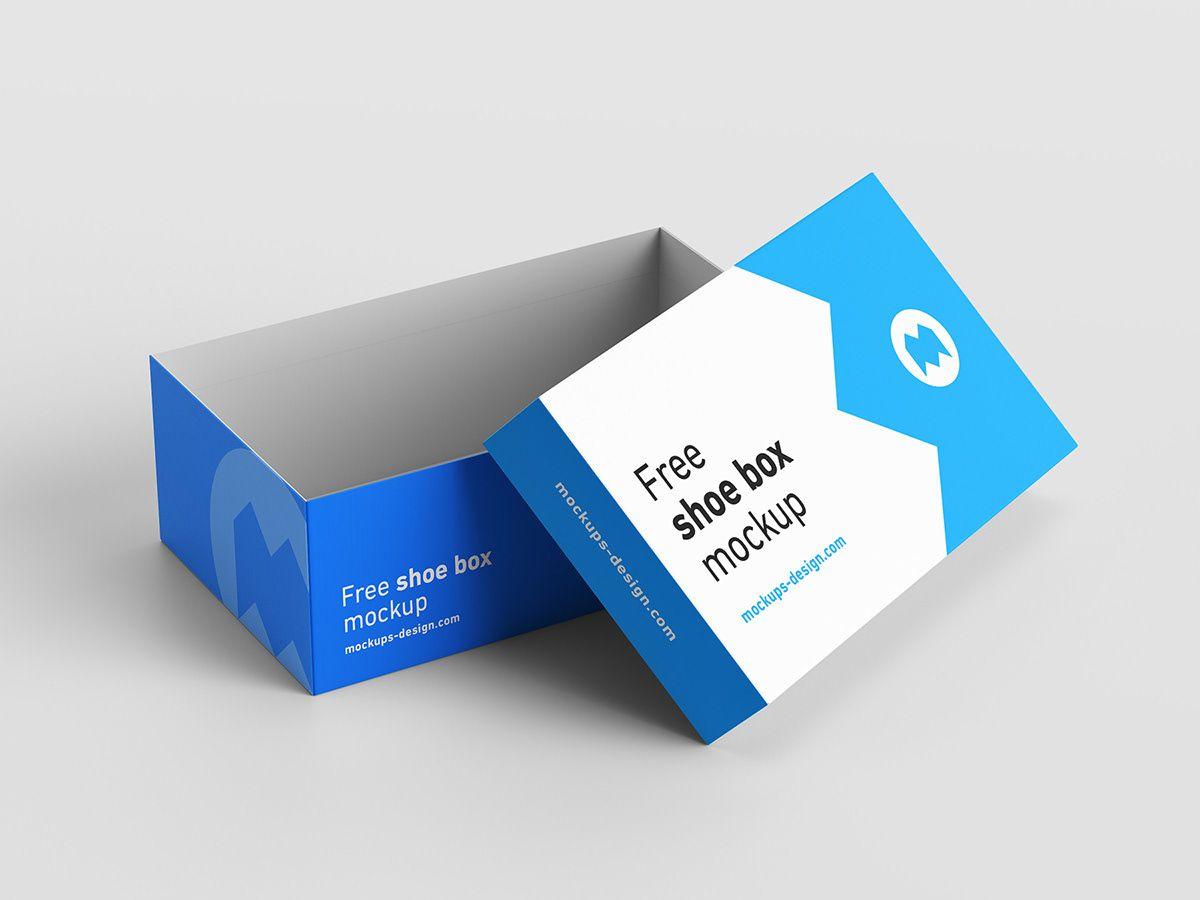 Download Free Shoe Box Mockup On Behance Design Mockup Free Box Mockup Free Mockup