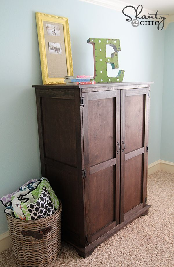Pottery Barn Inspired Armoire Free Plans Pottery Barn