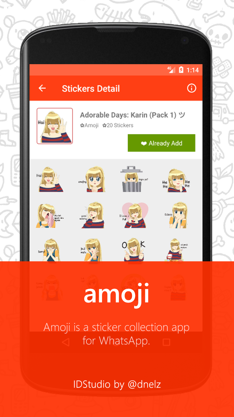 Amoji Personal Stickers For Whatsapp Apps On Google Play