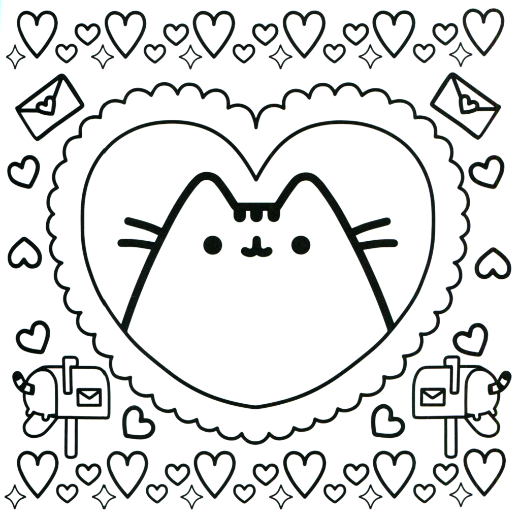 Coloring Rocks Unicorn Coloring Pages Pusheen Coloring Pages Valentine Coloring Pages