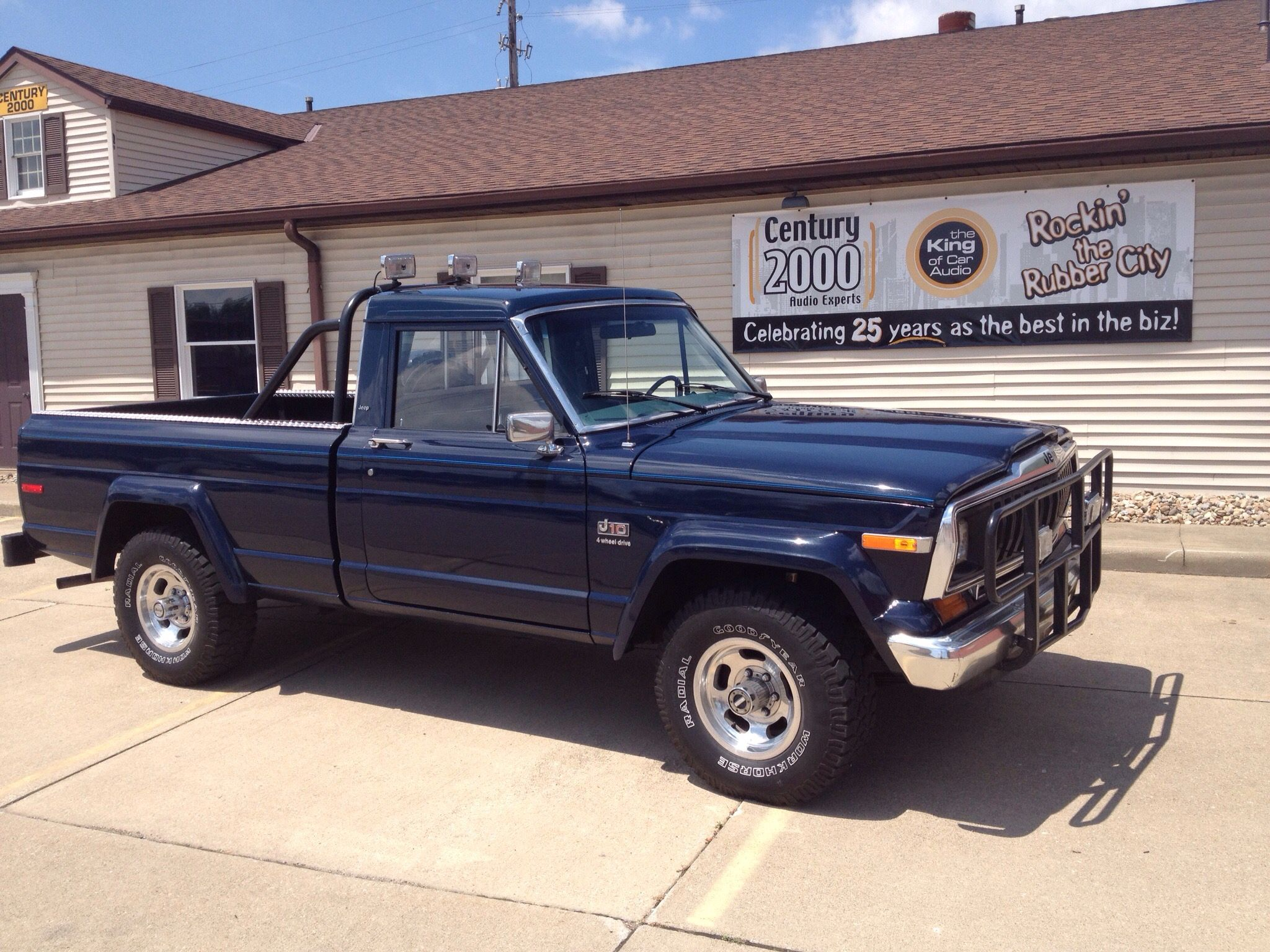 medium resolution of 1983 blue jeep j10 pickup truck