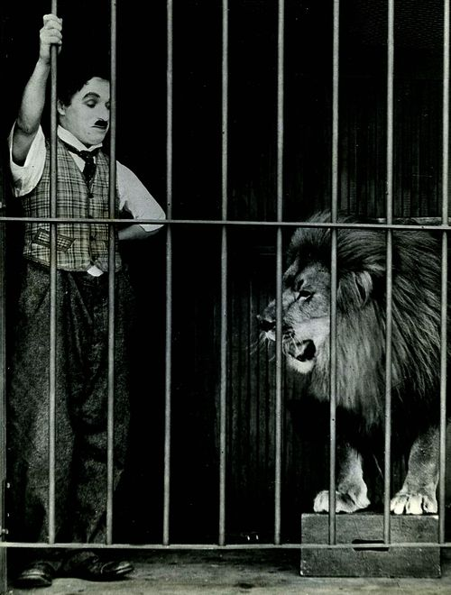 Charlie & one of his co stars in The Circus c.1928