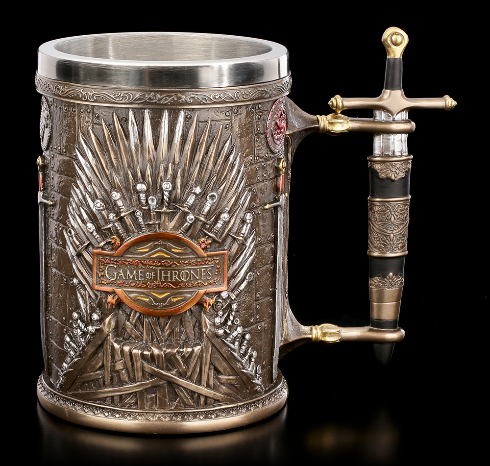 Game of Thrones Mug Tankard Cup Stainless Steel Resin 3D