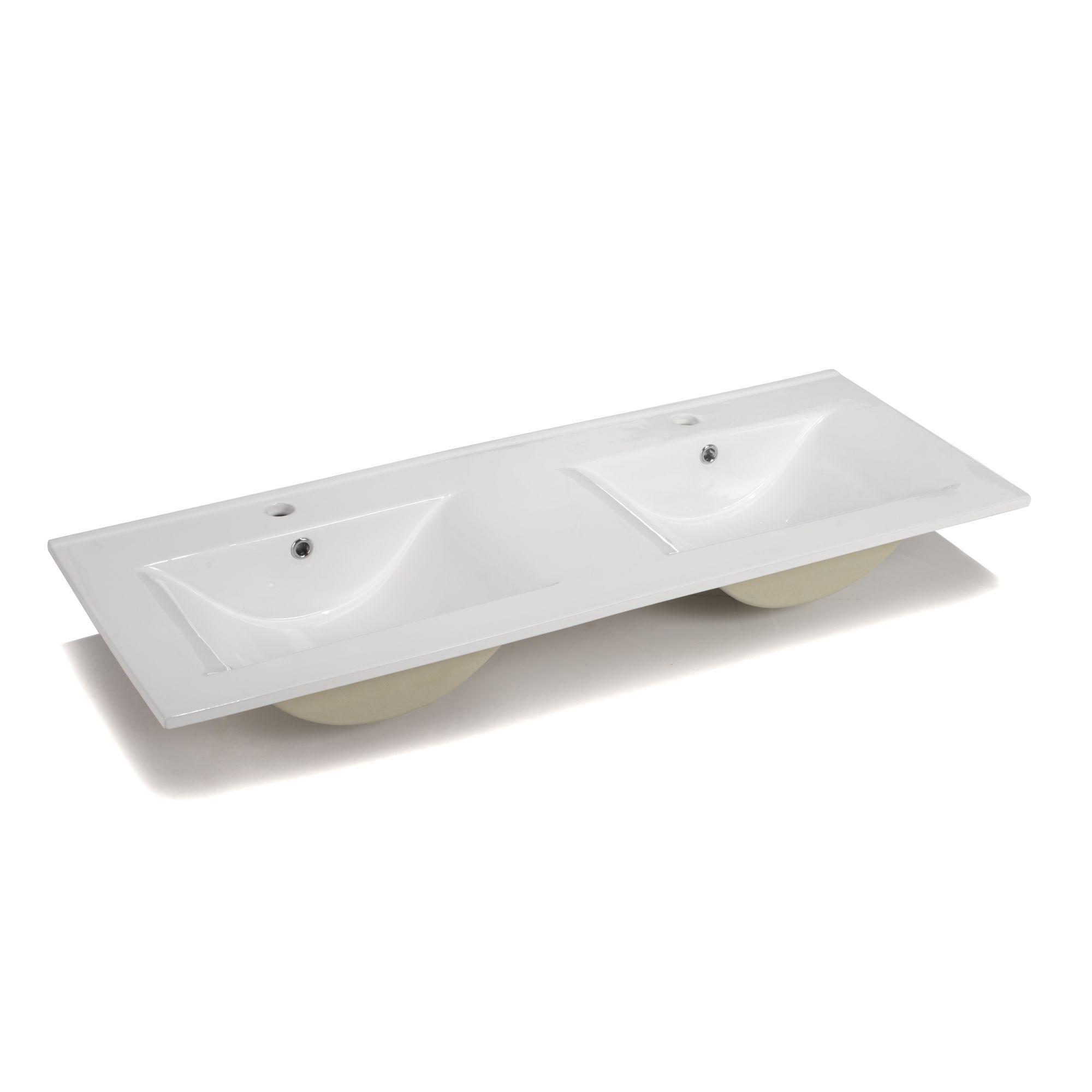 Vasque Double En Ceramique 120cm Luxy Les Vasques Et La