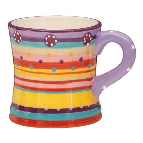 large pottery mug