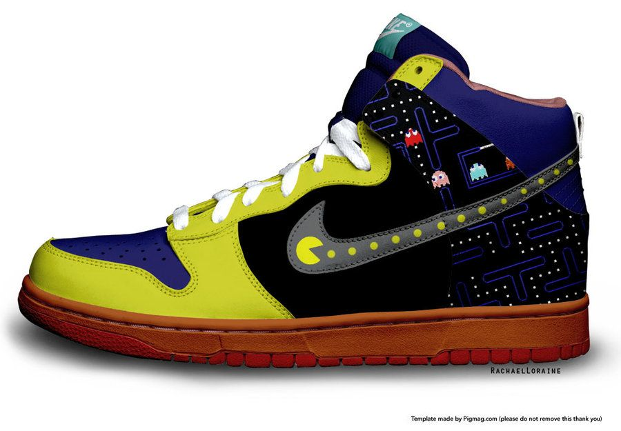 Pacman Nike by RachaelLoraine on DeviantArt