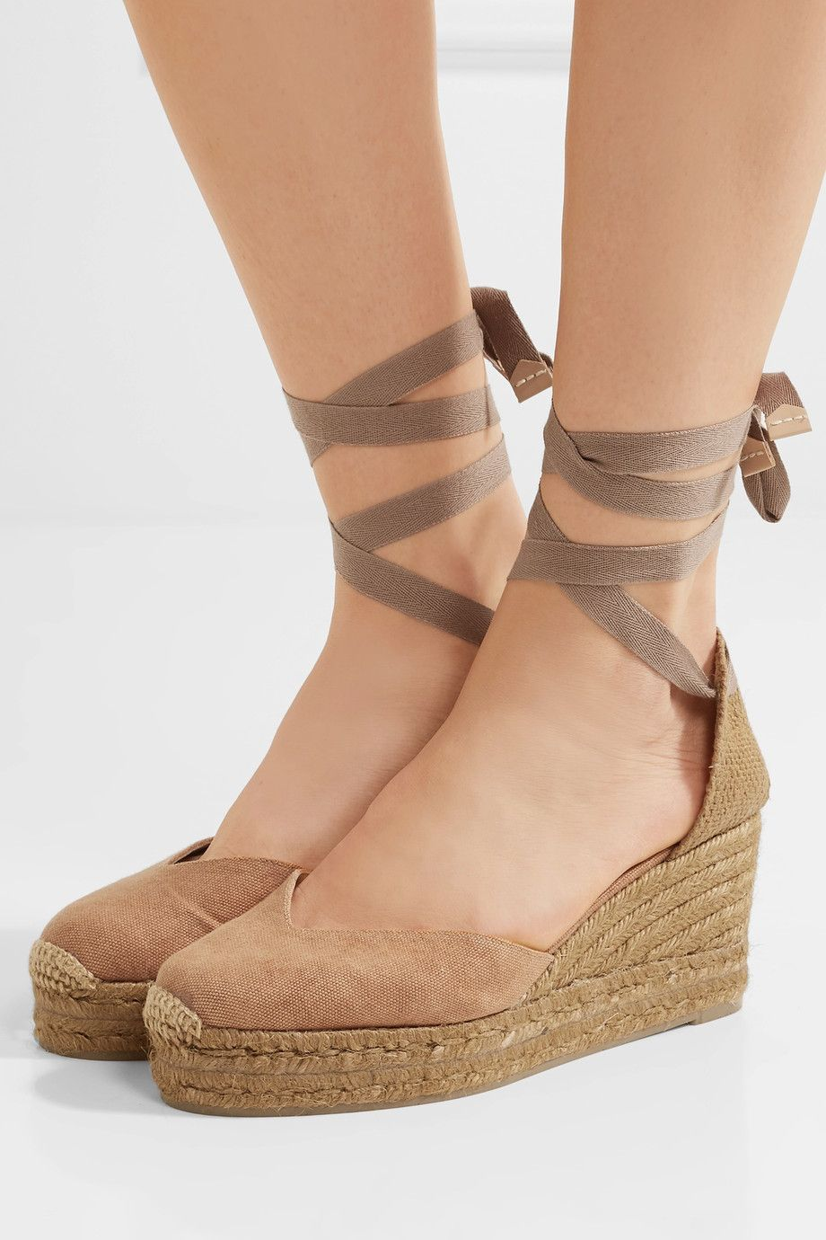 Castañer - Chiara canvas wedge espadrilles
