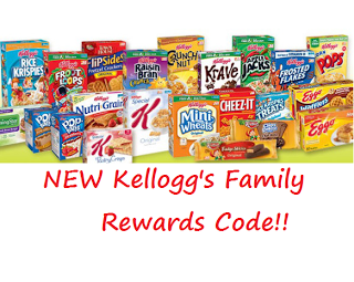 New 20 Point Kellogg S Family Rewards Code Trade In Points For