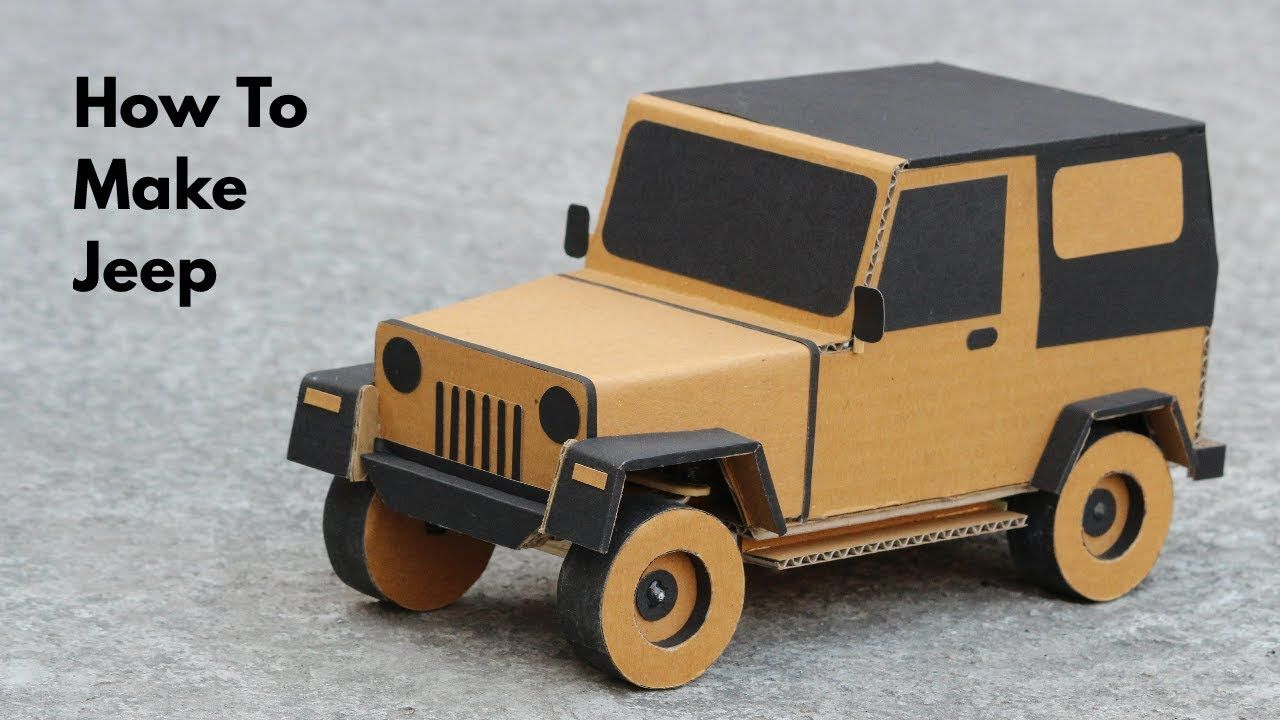 How To Make Rc Jeep From Cardboard Very Simple Part 1