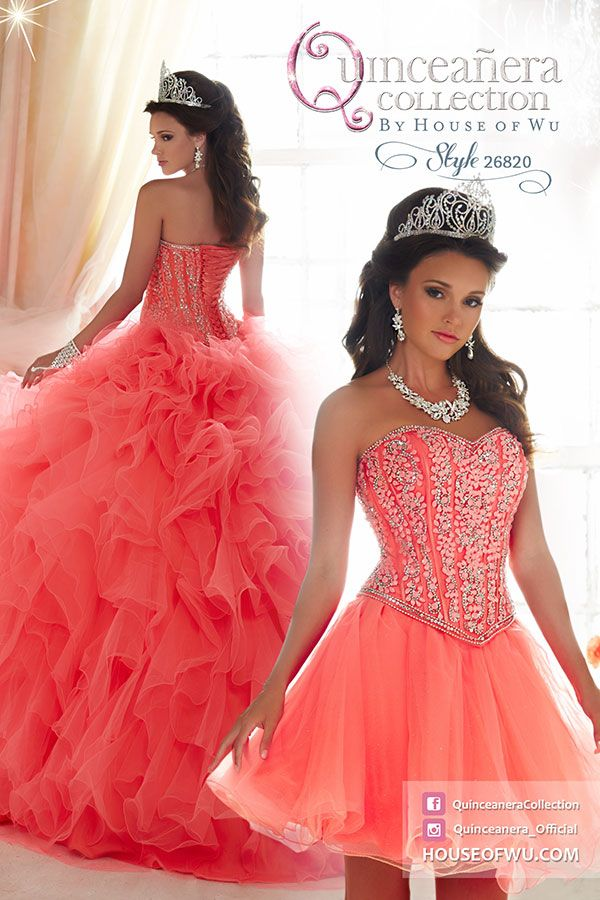 3cbfdd848e QuinceaneraCollection - Style 26820. Available in Hot Coral Coral ...