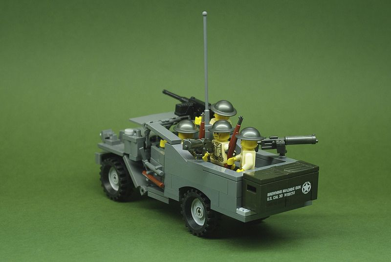M3A1 Scout Car - US Army - Early War (3)   Lego military