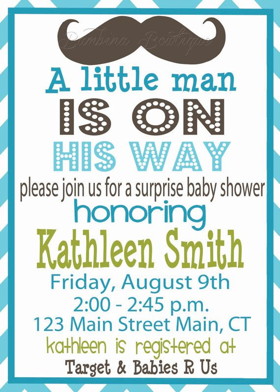 Little man mustache baby shower invitation baby shower ideas little man mustache baby shower invitation filmwisefo