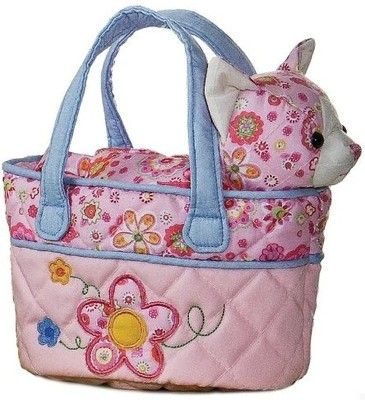 Anyone who likes quilted stuff would like this cat pet carrier purse.