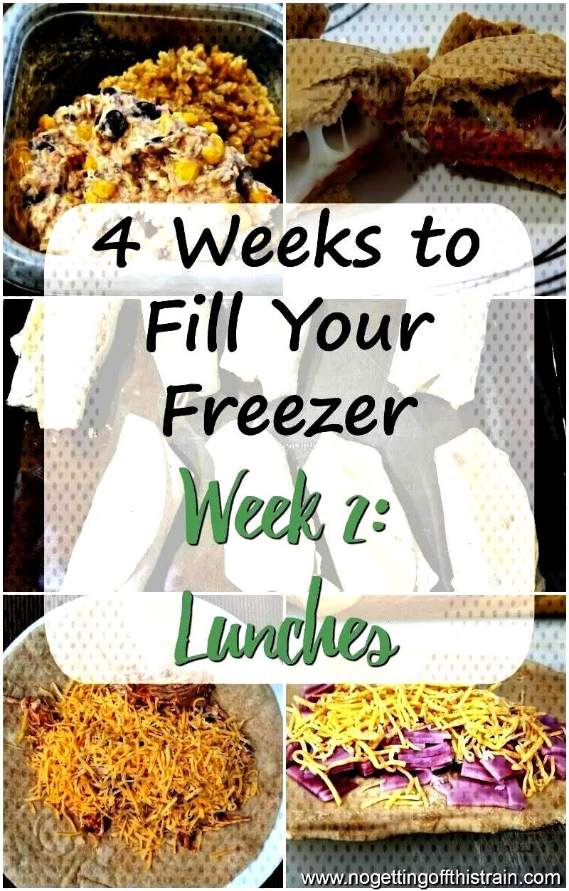 to Fill Your Freezer Challenge Week 2- Lunch - No Getting Off This Train - In Week 2 of this 4 Wee