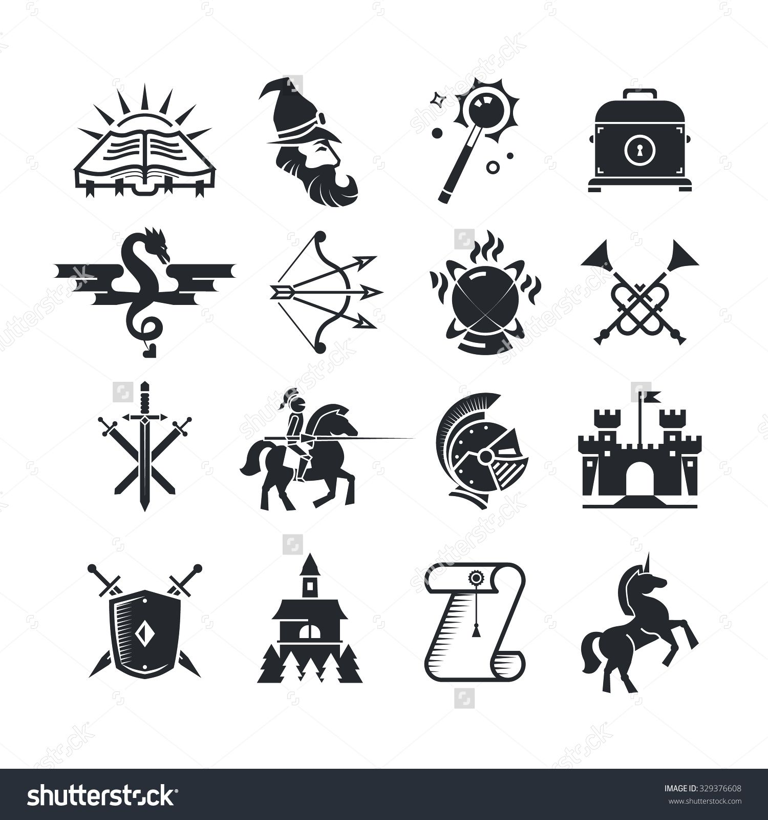Medieval knight icon set icon set identity design and logos buycottarizona