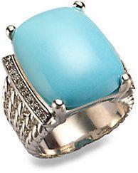 David Yurman Diamond & Turquoise Ring on shopstyle.com