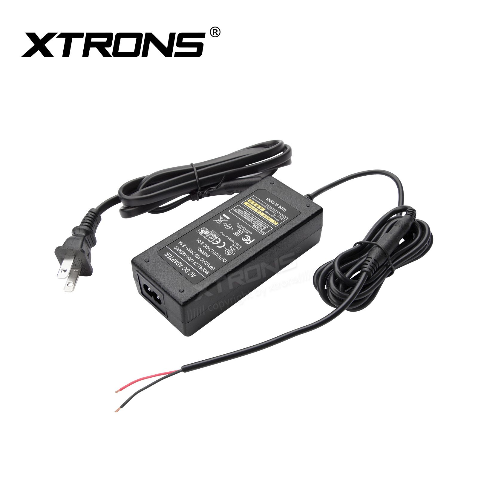 Us 2 Pin Ac Dc Power Supply Adapter Plug For Xtrons Overhead Units Home Use Adapter Power Adapter Adapter Plug