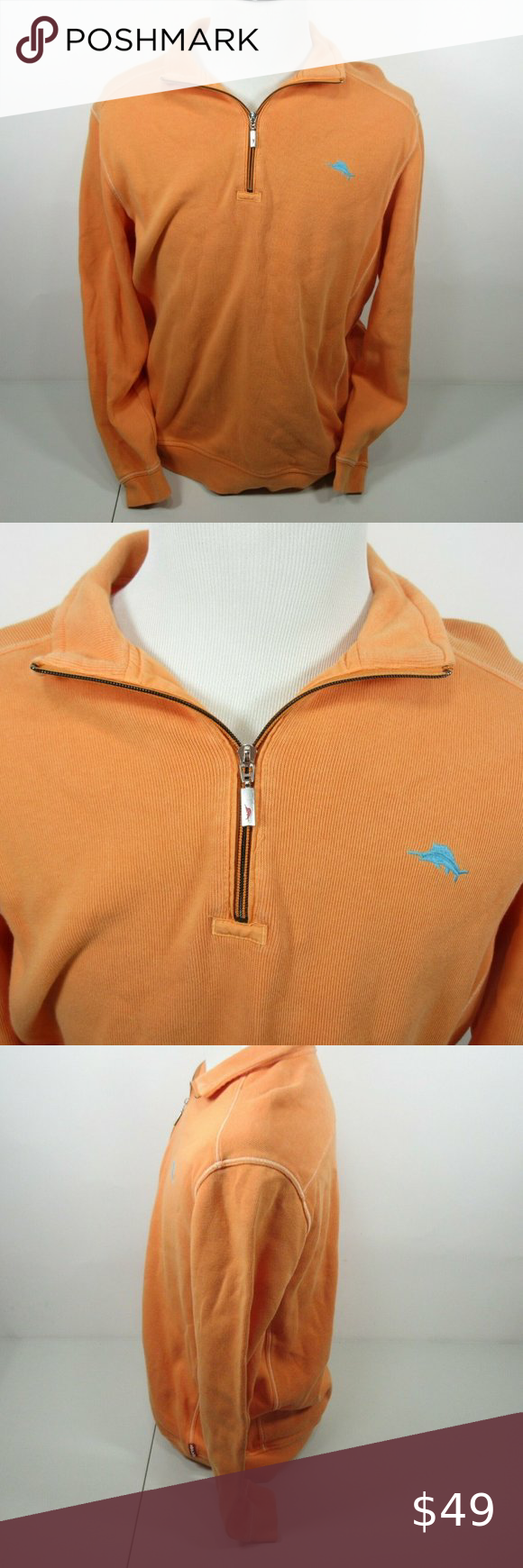 Tommy Bahama Relax 1 4 Zip Marlin Pullover Sweater Tommy Bahama Men S Relax Orange Large 1 4 Zip Marlin Pullover Sweaters Pullover Sweater Sweatshirts Pullover [ 1740 x 580 Pixel ]