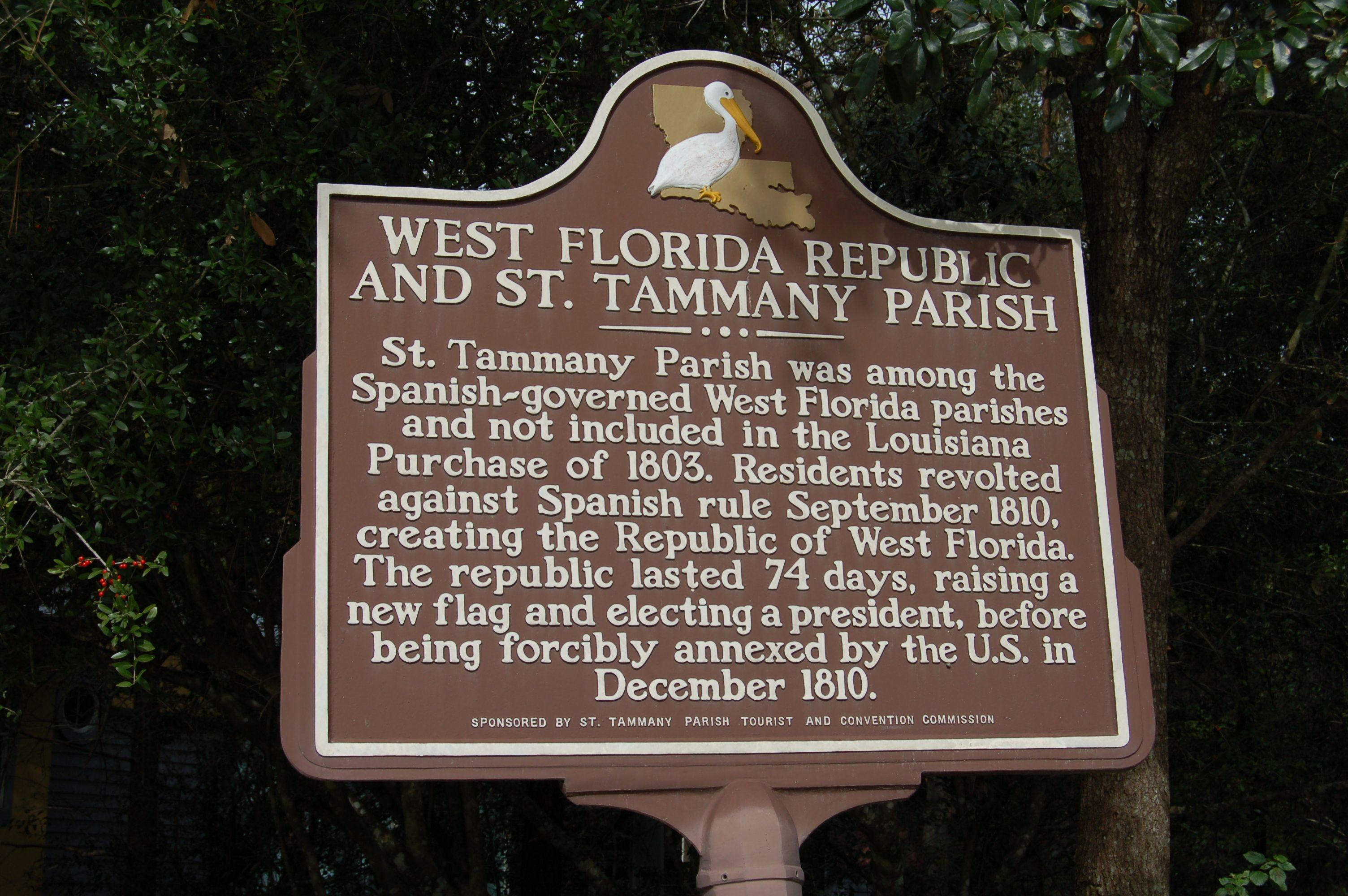 West Florida Republic and St. Tammany Parish, Mandeville