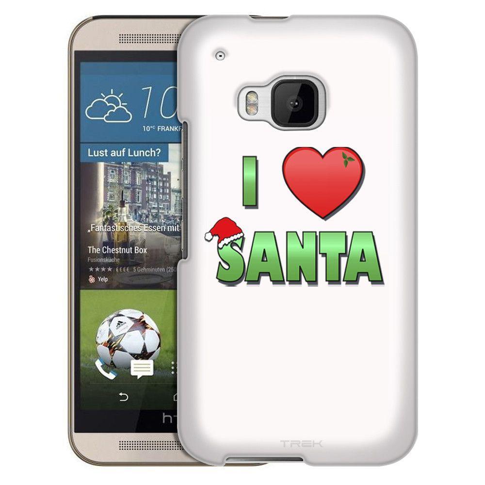 HTC One M9 I Love Santa on White Slim Case