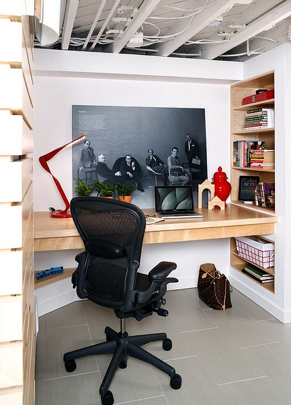 Basement Office Design Property basement home office design and decorating tips | basements, desks