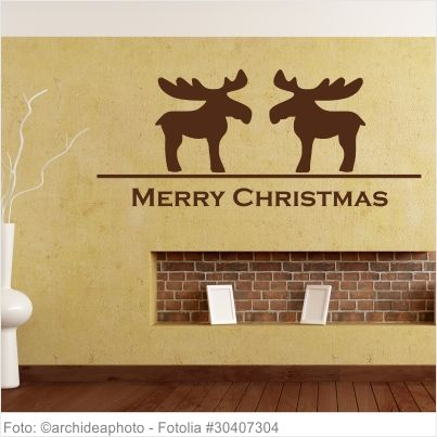 Wandtattoo Weihnachten - Rentiere 2er Set