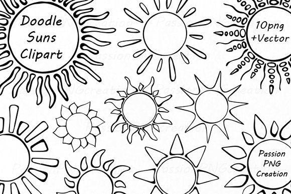 Doodle Suns Clipart Sun Doodles Sharpie Doodles Doodles