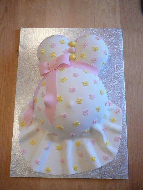 Pink Yellow Purple Baby Shower Part - 28: Too Cute Belly Baby Shower Cake.I Want One Of These For My Baby Shower :-)