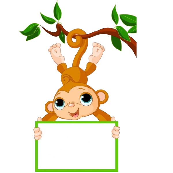 Cute Funny Cartoon Baby Monkey Clip Art Images. All Monkey Cartoon Picture Images Are On A Transparent Background