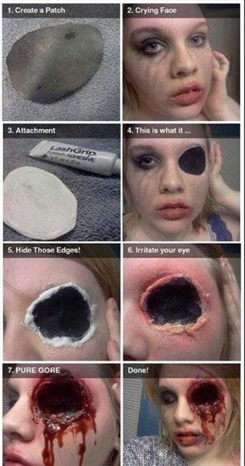14 disgusting diy halloween makeup tutorials ideas thatll scare the crap out of - Where Can I Get Halloween Makeup Done
