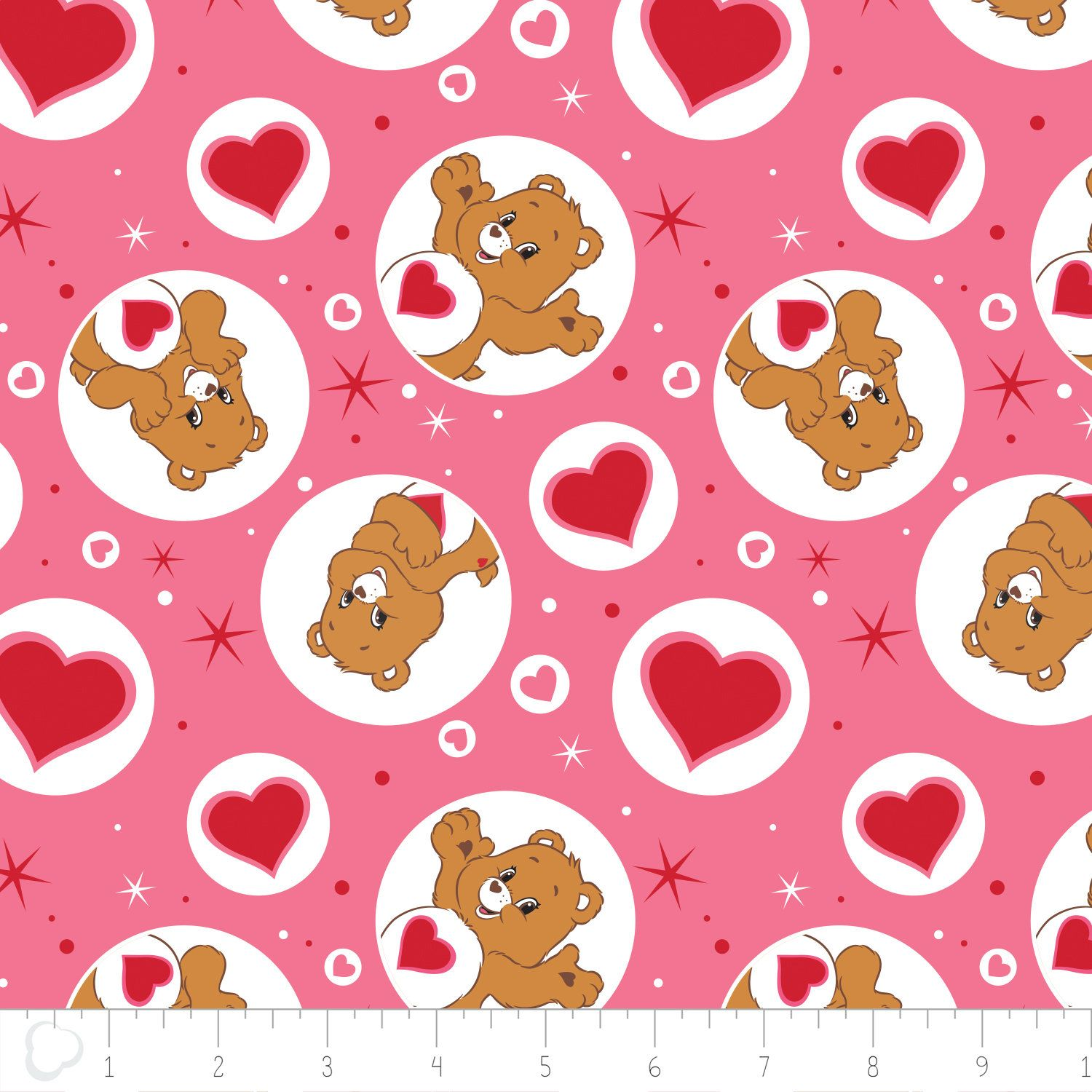 Camelot Carebears 44010102 1 White Belly Badge Cotton Fabric FREE US SHIPPING