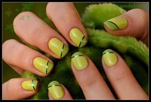 Love the manicure - would use different colors of polish, tho