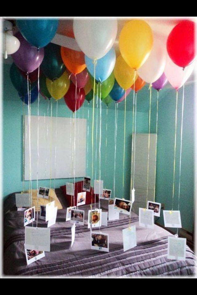 Romantische überraschung Für Freund Mit Kerzen
