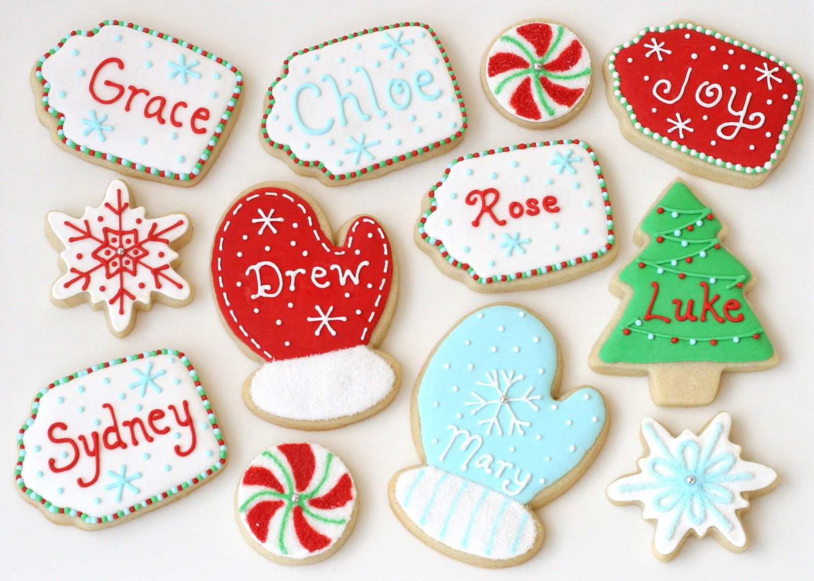 Beautiful Holiday Cookie Decorating Ideas Part - 3: Personalized Christmas Cookies - By Glorious Treats