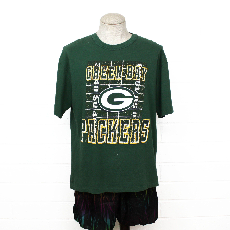 Vintage 90s Green Bay Packers Shirt Large Green Grid Iron Nfl Etsy In 2020 Green Bay Packers Shirts Nfl Football Logos Shirts