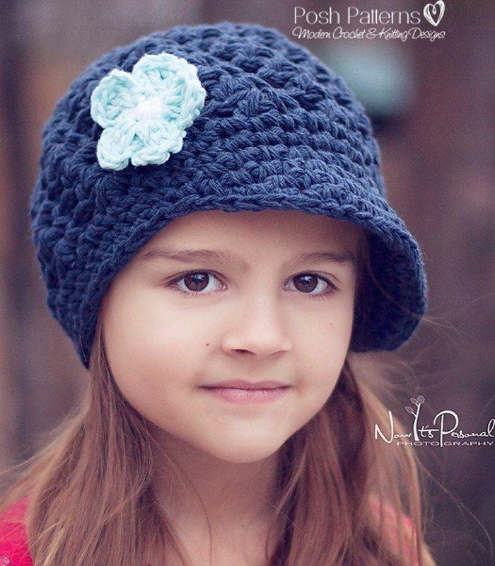 Knit Baby Newsboy Cap Pattern Crochet