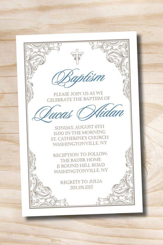 elegant baptism invitation fancy baptism invitation communion