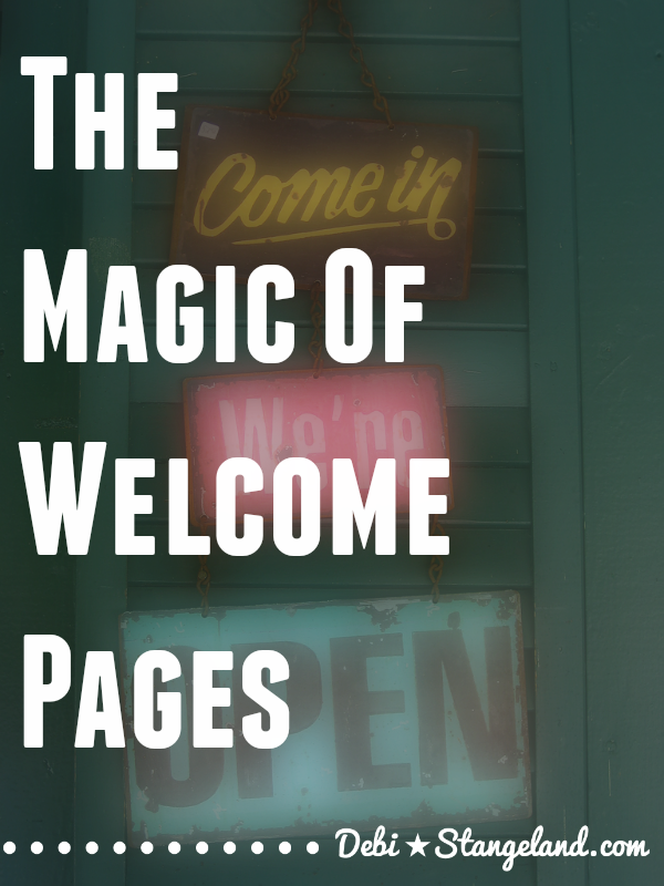 Welcome pages are a fantastic way to connect with new readers and direct them around your site. You can serve up your best content on a silver platter. Never underestimate the power of a guided tour for a new visitor. #EquippingBloggers