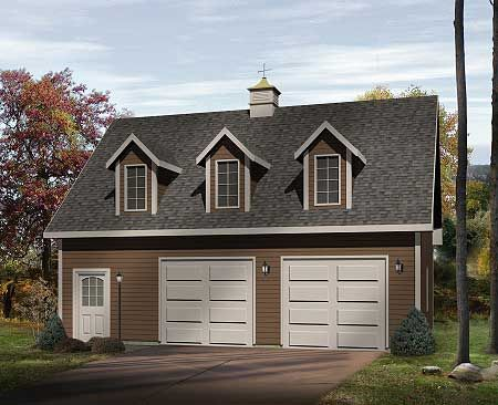 Plan 2226sl two car garage with loft car garage lofts for Double garage with loft