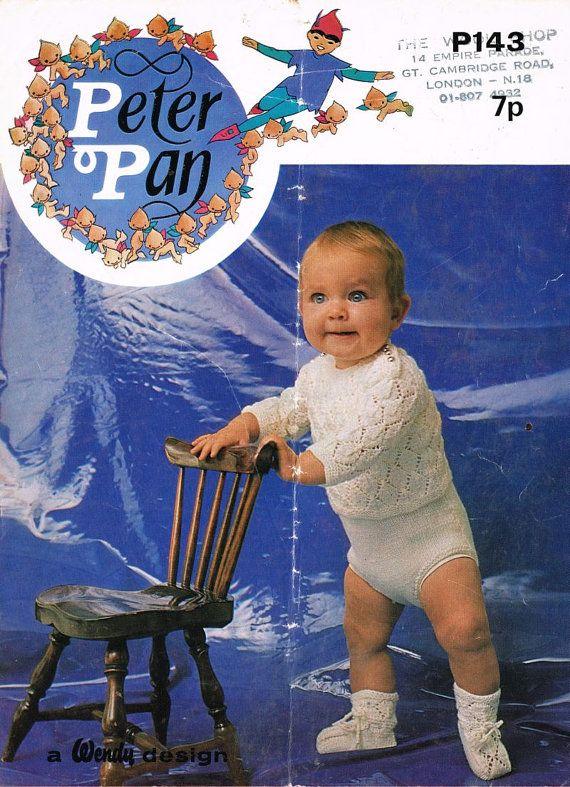 Peter Pan 143 baby jumper pants and sock set vintage by Ellisadine, £1.00