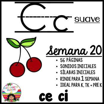 C Suave Silabas ce ci   Alfabeto en español, Iniciales y Preescolar