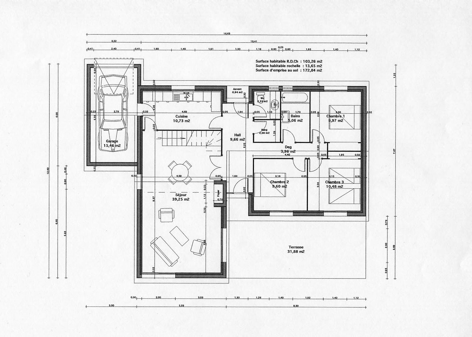 Plan interieur maison moderne images for Maison design moderne